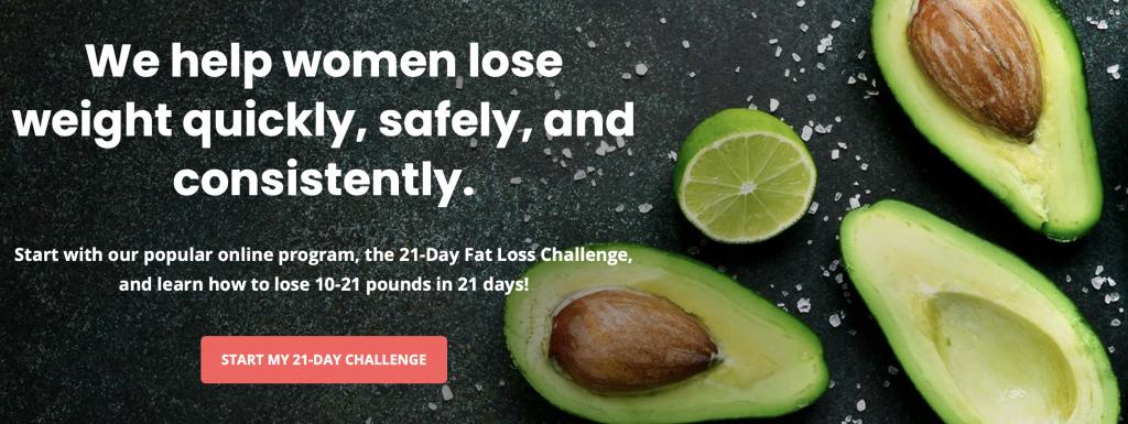 Avocadu weight loss e mail freebie opt in challenge